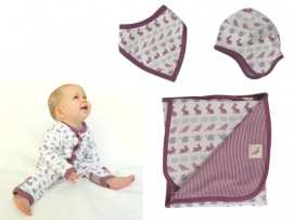 Piloten mutsje baby - Konijn (maat 12 -18 maanden)