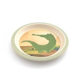Bamboe kinderservies Krokodil