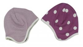 Babymutsje Bolletjes - paars