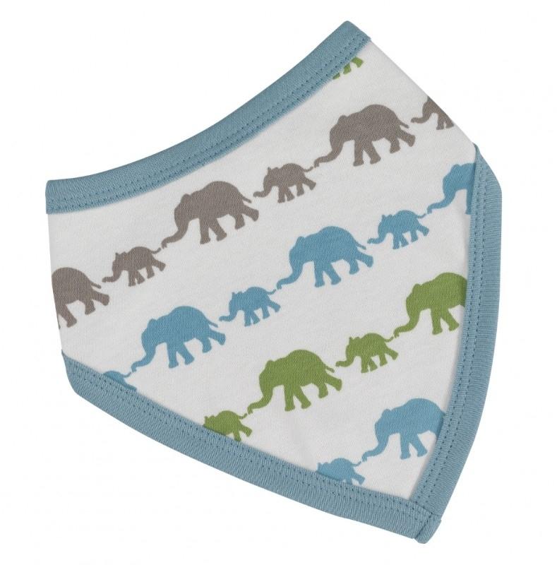 Bandana slab Olifantjes - blauw multicolor