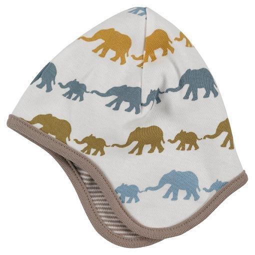 Piloten mutsje baby olifant - taupe