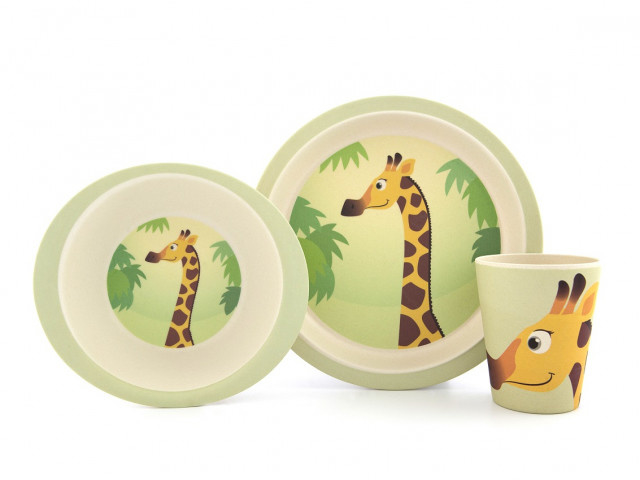 Bamboe kinderservies Giraf