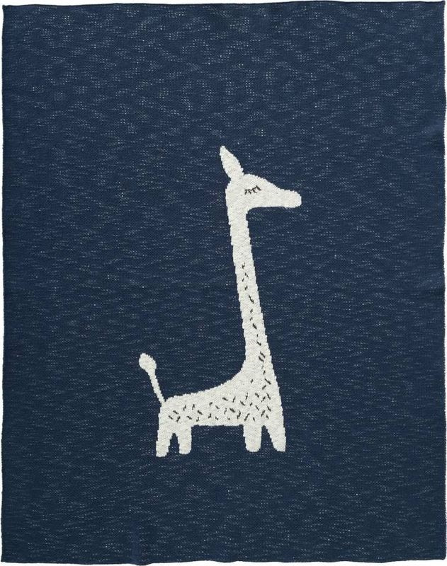Gebreide wiegdeken Giraf