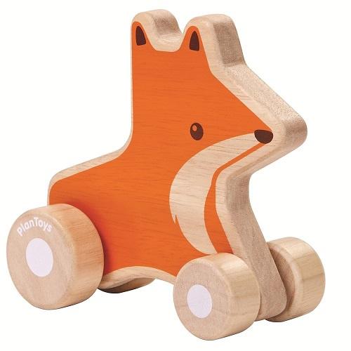 Houten duwdier Vos Plan Toys » deKleineVogelaar