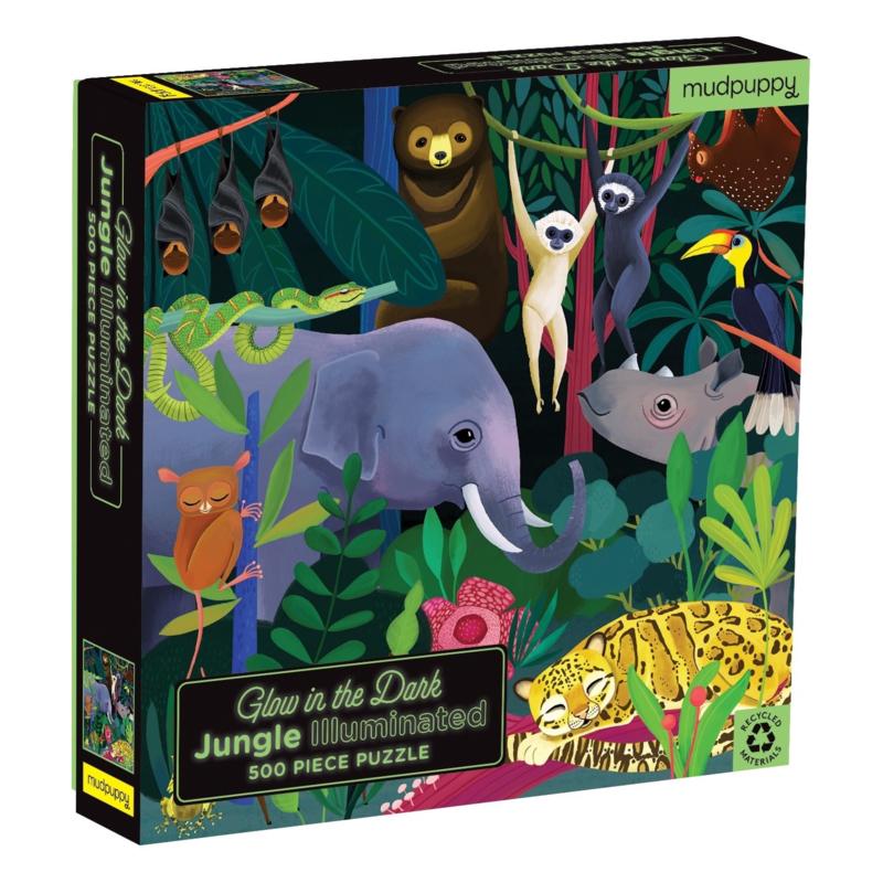 Glow in the dark puzzel Tropisch Regenwoud - 8j
