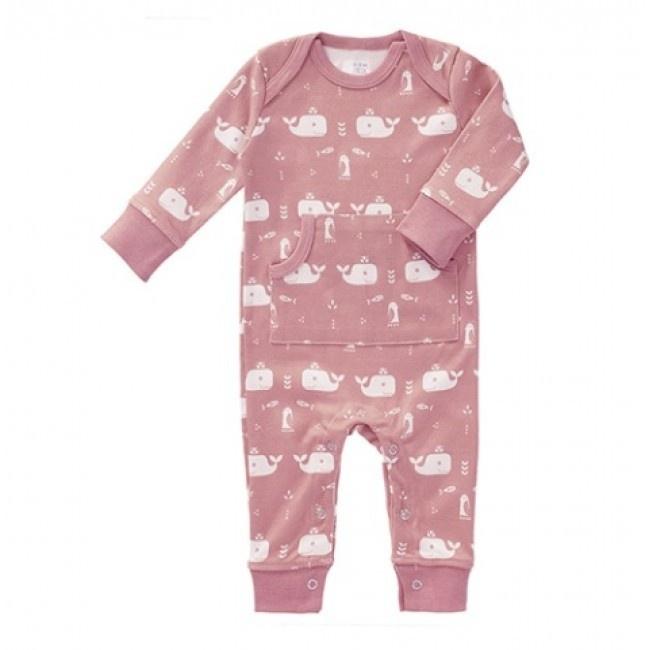 Babypyjama Walvis - roze