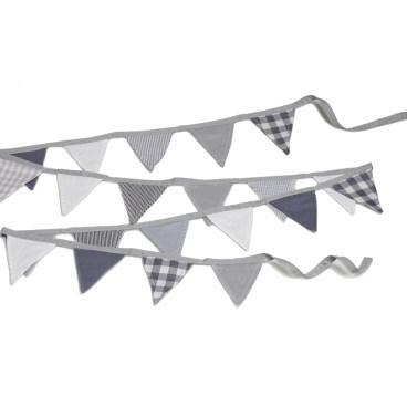 Vlaggenlijn van stof mini -  grijs