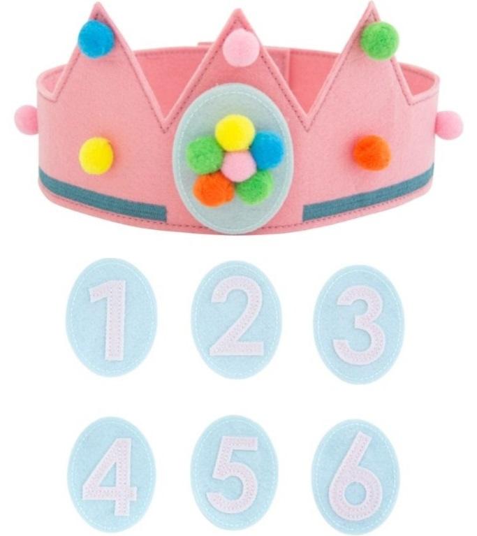 Verjaardagskroon meisje met cijfers
