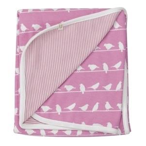 Wiegdeken Vogeltjes - roze