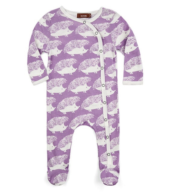Baby pyjama Egel - paars