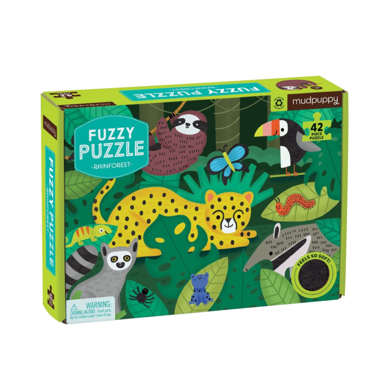 Voel puzzel dieren uit het Regenwoud - 3j