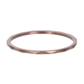 """Ring 1 mm"""" Wave"""" bruin"""