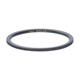 Ixxxi Jewelry Sandblasted zwart 1 mm