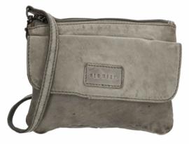 Old West Round Rock schoudertasje voorklep grijs