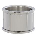Basisring 14 mm zilver