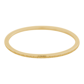 "Ring 1 mm "" Sandblasted"" goud"