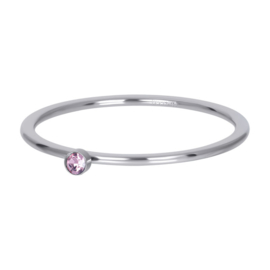 Ixxxi Jewerly Pink 1 stone Crystal 1 mm Zilver