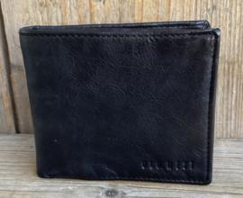 Old West portemonnee leer zwart liggend