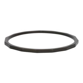 Ixxxi Jewelry Angular zwart 1 mm(artnr. RO3903-05)