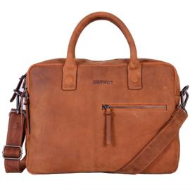 "Laptoptas ""Dstrct"" Wall street"" workingbag 14' cognac"