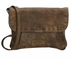 Old West Round Rock schoudertasje met flap Olijf