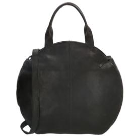 MicMacbags  shopper Côte d'Azur zwart groot 18041