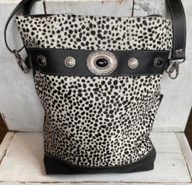 Shopper klein 003 Dark Brown Krokoprint Leather