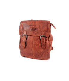 "Old West ""Paint Rock"" Back Pack rugzak leer cognac"