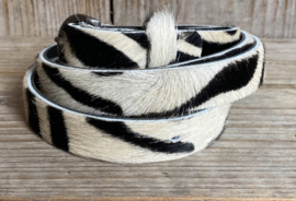 Riemen leer Old West 009 Zebra 2 cm breed