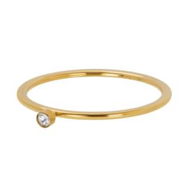 Ixxxy Jewerly  Zirconia 1 Stone Crystal 1 mm goud