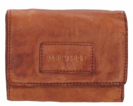 Old West Round Rock portemonnee klein Cognac bruin