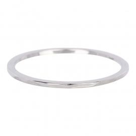 """Ring 1 mm """" Wave"""" zilver"""