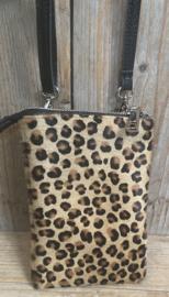 """Telefoontasje huid"""" Leopard"""""""