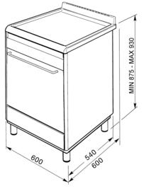 Smeg fornuis 60cm SNLK61MX9