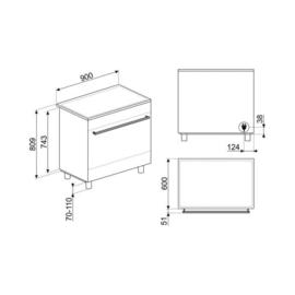 Smeg fornuis 90 cm inductie C9IMX9-1