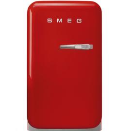 Smeg retro minibar FAB5LRD rood linksdraaiend