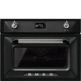 Smeg oven met magnetronfunctie SF4920MCN Victoria zwart