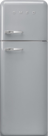 Smeg retro koelkast FAB30RSV3 rechtsdraaiend zilvermetallic