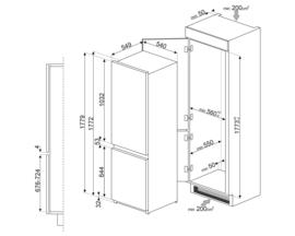 Smeg inbouw koelkast C4173N1F met NO FROST