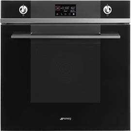Smeg oven met magnetron SO6102M2N Linea zwart