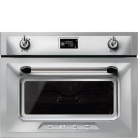 Smeg oven met magnetronfunctie  SF4920MCX1 Victoria zilver