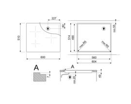 Smeg kookplaat inductie 60cm SI2M7643D
