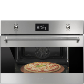 Smeg inbouw oven 45cm SFP4390XPZ  pizza functie