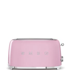 Smeg outlet broodrooster TSF02PKEU 2x4 roze