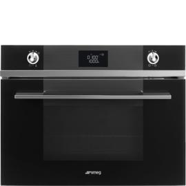 Smeg oven met stoomoven SF4102VCN Linea zwart