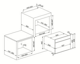 Smeg SF4395VCX1 combi- / stoomoven verkocht