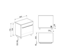 Smeg fornuis 90 cm CG90IXT9 inductie RVS