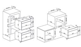 Smeg inbouw magnetron met grill SF4390MX Classici rvs