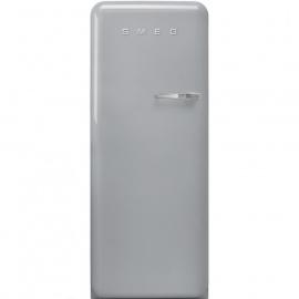 Smeg retro koelkast FAB28LSV3 linksdraaiend zilvermetallic