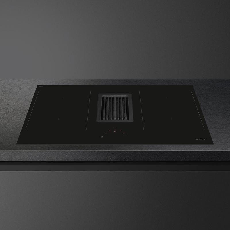 Smeg inductie kookplaat met geïntegreerde afzuigkap HOBD482D